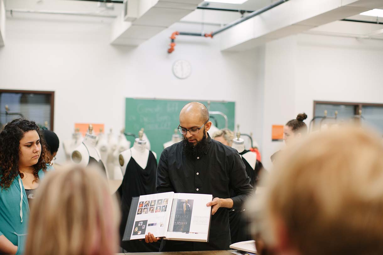 Columbia College Chicago Fashion Studies classroom