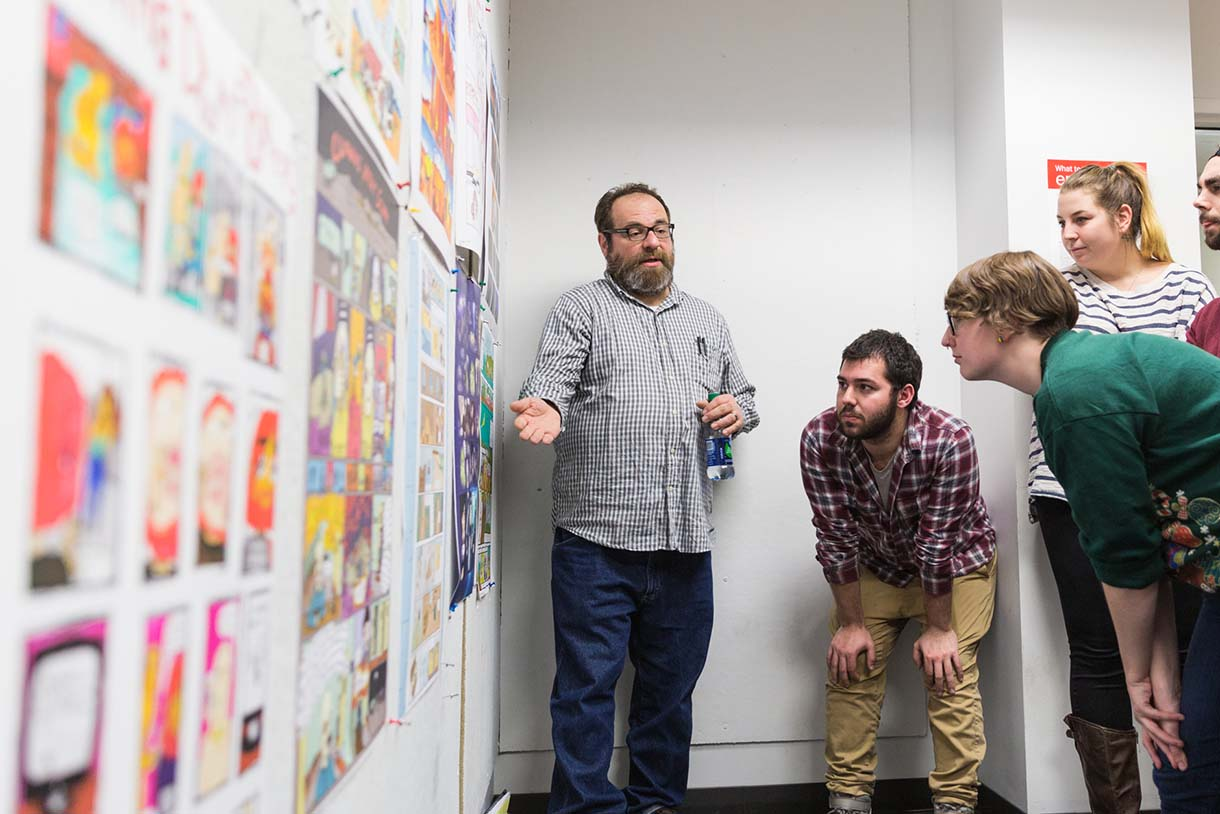Columbia College Chicago Illustration class with Ivan Brunetti
