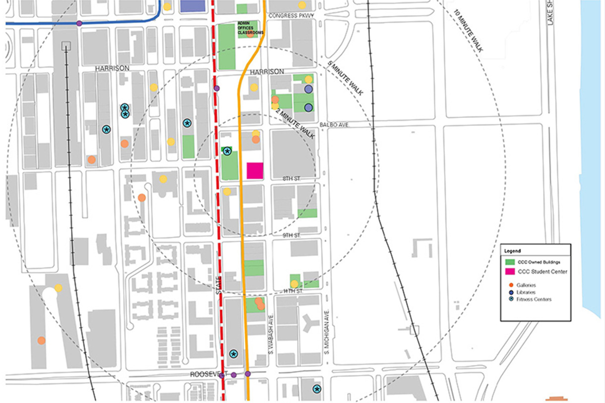 Columbia College Chicago Map Student Center Program Completed   2016   Columbia College Chicago
