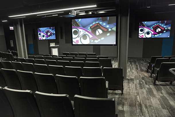 Image of newly renovated screening room.