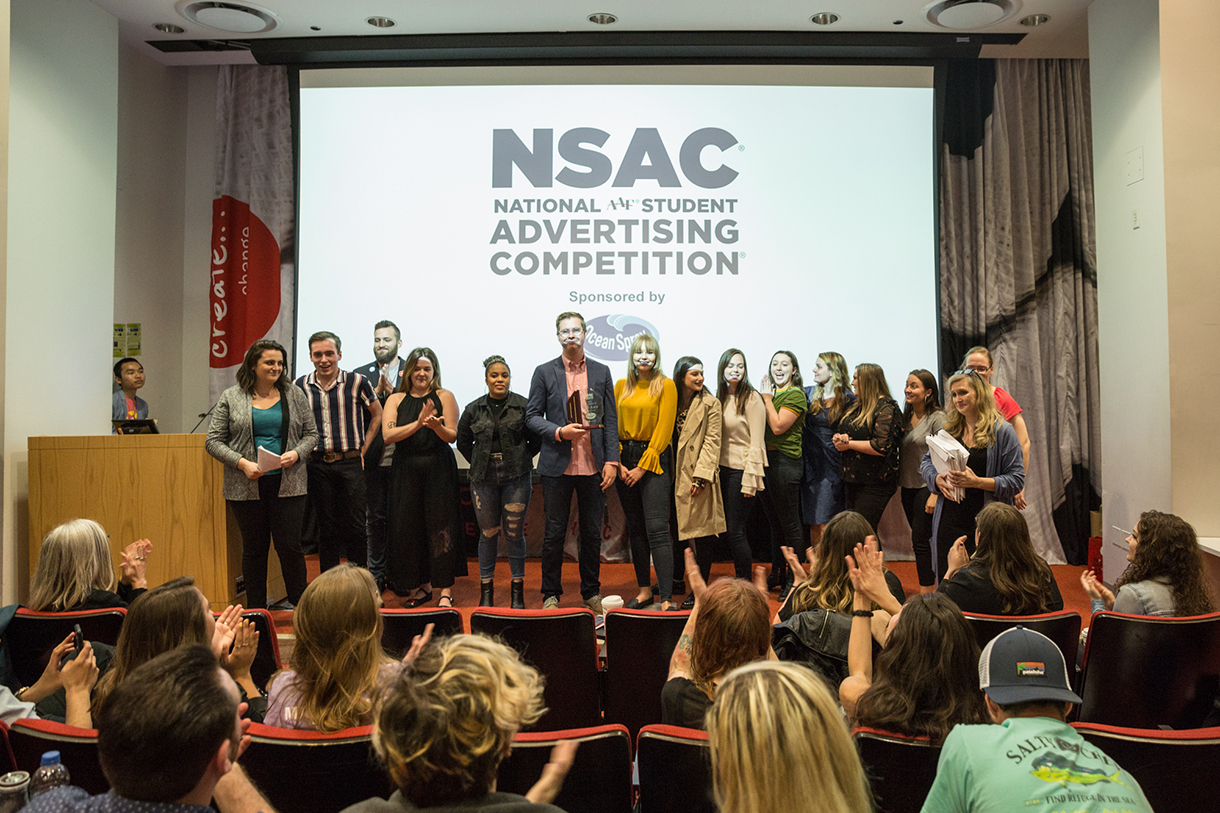 Columbia's student team rehearses their NSAC presentation at Manifest 2018. Photo: Phil Dembinski '08.