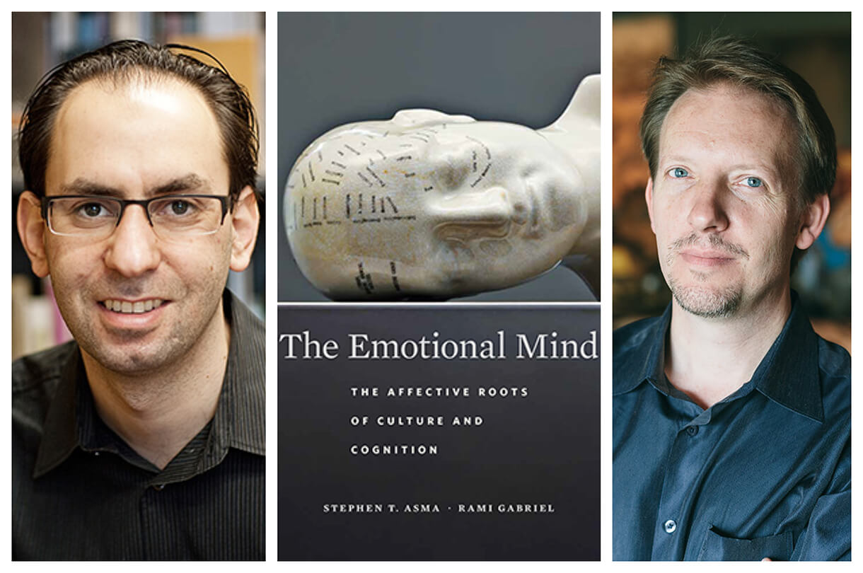 "Rami Gabriel (left) and Stephen Asma (right) co-authored the book ""The Emotional Mind""."