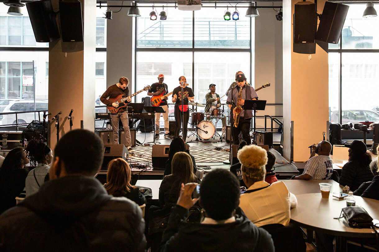 The Fusion Ensemble performing during Manifest 2019. Photo: Phil Dembinski '08