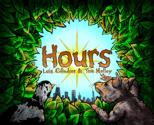 Front Cover from Hours; Illustrated by Luis Colindres, 2016